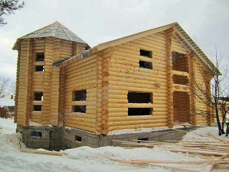 Строительство дома из бревна оцилиндрованного 280 мм
